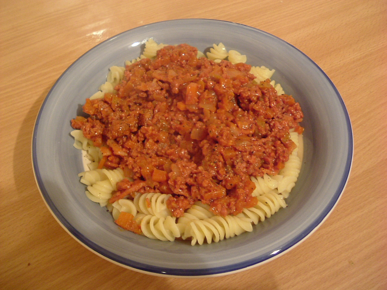 Pasta bolognese made by Rich, on 08/04/2005